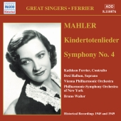 Album artwork for KINDERTOTENLIEDER/ SYMPHONY NO. 4