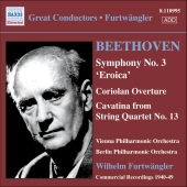 Album artwork for BEETHOVEN: SYMPHONY NO. 3, CORIOLAN OVERTURE, CAVA
