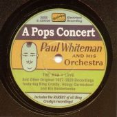 Album artwork for Paul Whiteman and his orchestra: POPS CONCERT