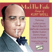 Album artwork for MACK THE KNIFE, SONGS OF KURT WEILL