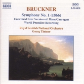Album artwork for Bruckner: Symphony 1 (1866 version) / Tintner