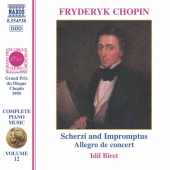 Album artwork for CHOPIN: Scherzos / Impromptus / Allegro de concert