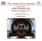 Album artwork for RHEINBERGER -ORGAN WORKS, VOLUME 3