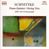 Album artwork for SCHNITTKE: PIANO QUINTET / STRING TRIO