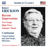 Album artwork for ERICKSON: ORCHESTRAL, CHAMBER & VOCAL MUSIC