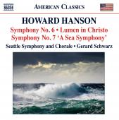 Album artwork for Hanson: Symphonies Nos. 6, 7, Lumen in Christo