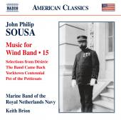 Album artwork for Sousa: Music for Wind Band, Vol. 15