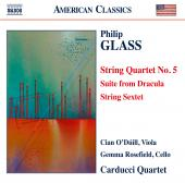 Album artwork for Glass: String Quartet No. 5, Suite from Dracula, e