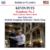 Album artwork for Kevin Puts: Symphony No. 2, Flute Concerto & River