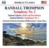 Album artwork for Thompson: Symphony No. 2 - S. Adams: Drift & Provi