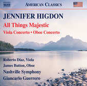 Album artwork for Higdon: All Things Majestic, Viola Concerto & Oboe
