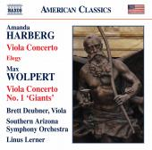Album artwork for Amanda Harberg: Viola Concerto & Elegy - Max Wolpe