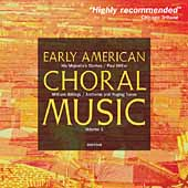 Album artwork for EARLY AMERICAN CHORAL MUSIC, VOLUME 1