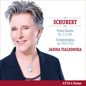 Album artwork for Schubert: Piano Sonata, 4 Impromptus / Fialkowska