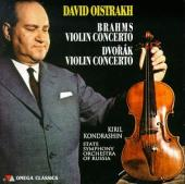 Album artwork for Oistrakh plays Brahms and Dvorak Violin Concertos
