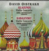 Album artwork for Oistrakh plays Glazunov & Kabalevsky Violin Concer