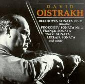 Album artwork for Oistrakh plays sonatas by Beethoven, Prokofiev, et