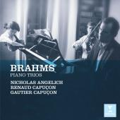 Album artwork for Brahms: Piano Trios / Angelich, Capucon