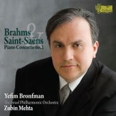 Album artwork for Brahms, Saint-Saens: Piano concerto No. 2/ Bronfma