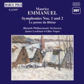 Album artwork for EMMANUEL: SYMPHONIES NOS.1 & 2