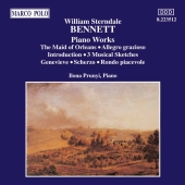Album artwork for William Sterndale Bennett: Piano Works, Vol.1