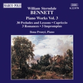 Album artwork for William Sterndale Bennett: Piano Works Vol. 3