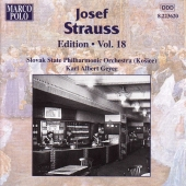 Album artwork for STRAUSS: JOSEF STRAUSS EDITION, VOL.18