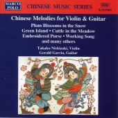 Album artwork for CHINESE MELODIES FOR VIOLIN AND GUITAR
