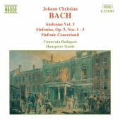 Album artwork for J.C. Bach: SINFONIAS VOL. 3