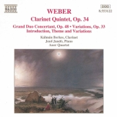 Album artwork for WEBER: CLARINET QUINTET, OP. 34