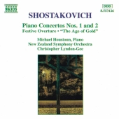 Album artwork for PIANO CONCERTI 1,2/FESTIVE OVERTURE