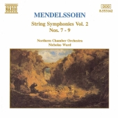 Album artwork for MENDELSSOHN  STRING SYMPHONIES VOL 2.