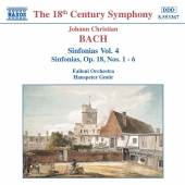 Album artwork for J.C. Bach: SINFONIAS VOL. 4