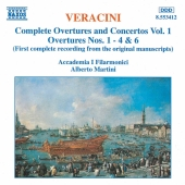 Album artwork for Veracini: Complete Overtures & Concertos Vol. 1