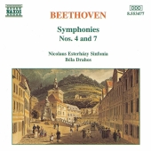 Album artwork for Beethoven: Symphonies 4 & 7 / Drahos