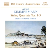 Album artwork for Zimmermann: STRING QUARTETS NOS. 1 - 3