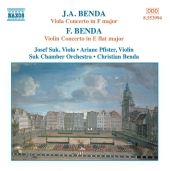 Album artwork for J.A. & F. BENDA: VIOLA & VIOLIN Concertos