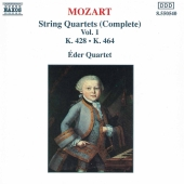 Album artwork for MOZART STRING QUARTETS VOL 1 EDER QUARTET