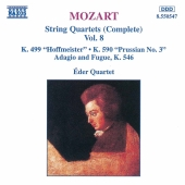 Album artwork for Mozart: String Quartets Vol. 8 / Éder Quartet