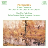 Album artwork for Prokofiev: Piano Concertos 1, 3 & 4 / Paik, Wit