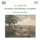 Album artwork for Bach: Inventions and Sinfonias (Sebestyen)