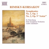Album artwork for RIMSKY-KORSAKOV -SYMPHONIES NOS. 1 & 2