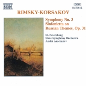 Album artwork for RIMSKY-KORSAKOV - SYMPHONY NO. 3