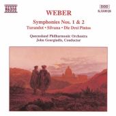 Album artwork for WEBER - SYMPHONIES NOS. 1 AND 2
