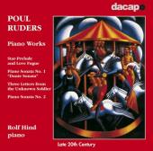 Album artwork for Poul Ruders: Piano Works / Rolf Hind
