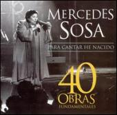 Album artwork for Mercedes Sosa 40 Obras Fundamentales