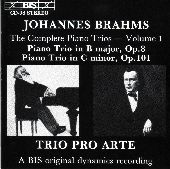 Album artwork for Brahms - Piano Trios, Volume 1