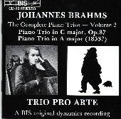 Album artwork for Brahms - Piano Trios, Vol.2