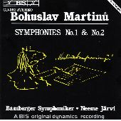 Album artwork for Martinu: Symphonies 1 & 2 (Jarvi)