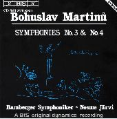 Album artwork for Martinu - Symphonies No.3 & No.4